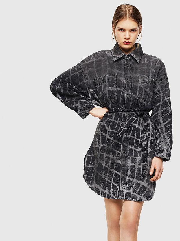D-PINKIES-SP JOGGJEANS, Black/Dark grey - Dresses