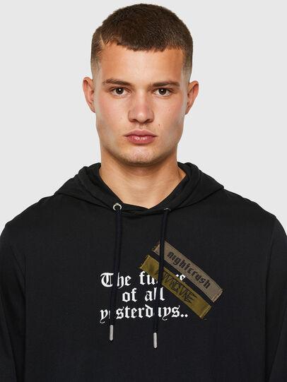 Diesel - T-JUST-LS-HOOD-TAPES, Black - T-Shirts - Image 3
