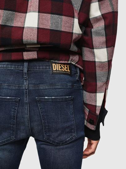 Diesel - D-Istort 0870C, Dark Blue - Jeans - Image 4