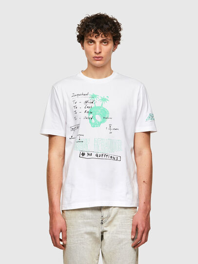 Diesel - T-JUST-B61, White - T-Shirts - Image 1