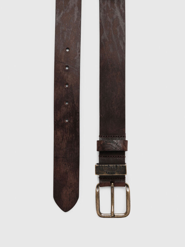 Diesel - B-FRAG, Brown Leather - Belts - Image 3