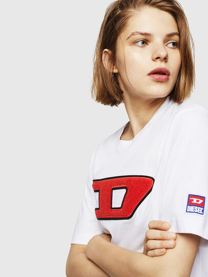 Diesel - T-JUST-DIVISION-D-FL, White - T-Shirts - Image 3