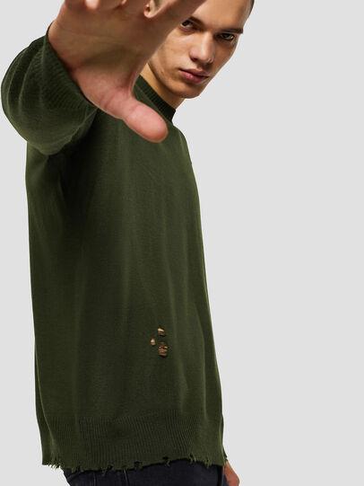 Diesel - K-PLUG, Dark Green - Knitwear - Image 4