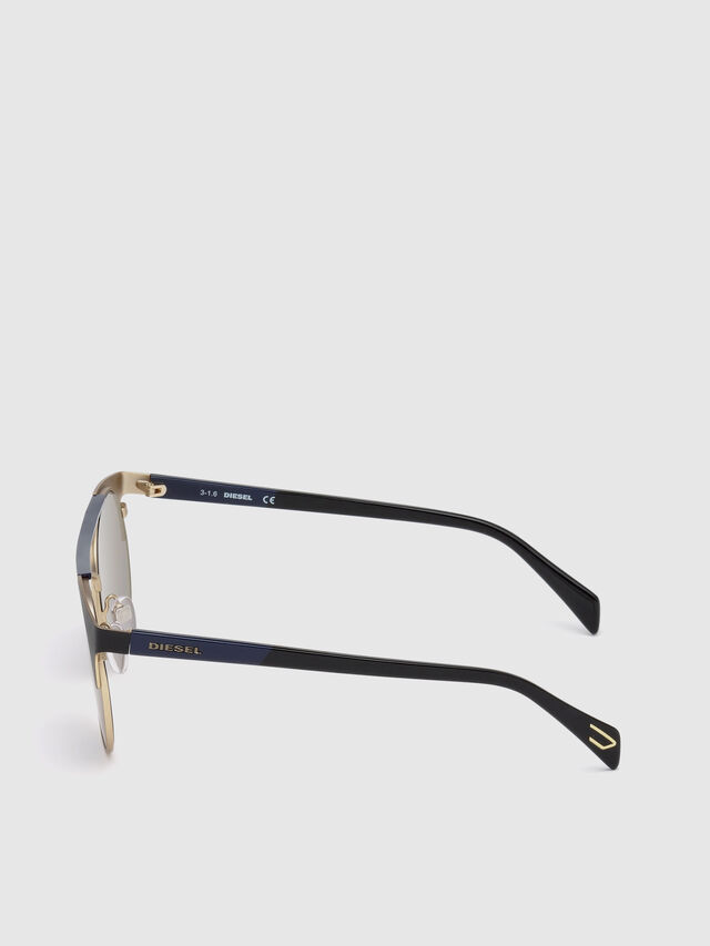 Diesel - DL0218, Black/Blue - Sunglasses - Image 3