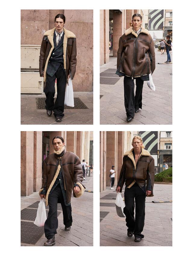 Diesel - GMLT01, Brown - Leather jackets - Image 3
