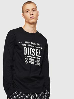 T-DIEGO-B6-LONG, Black - T-Shirts