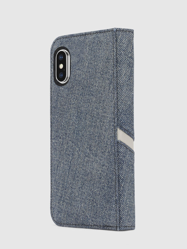 Diesel DENIM IPHONE X FOLIO, Blue Jeans - Flip covers - Image 5