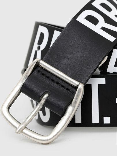 Diesel - BARBARANO, Black/White - Belts - Image 2