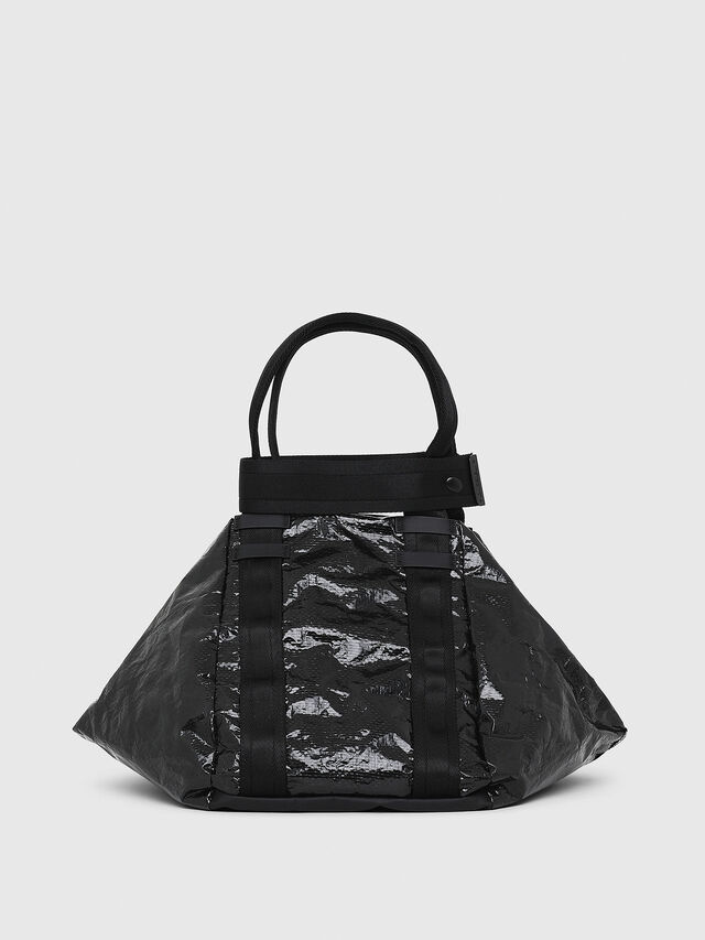 Diesel - D-CAGE SHOPPER, Black - Shopping and Shoulder Bags - Image 2