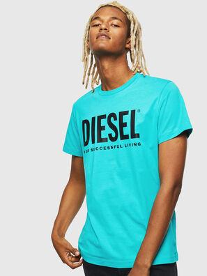 T-DIEGO-LOGO, Azure - T-Shirts