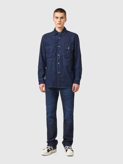 Diesel - D-WORKY-SP, Blue - Denim Shirts - Image 4