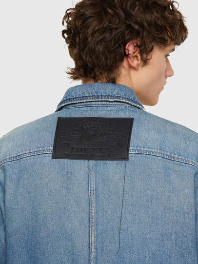 Diesel - D-SERLE, Medium blue - Denim Jackets - Image 5