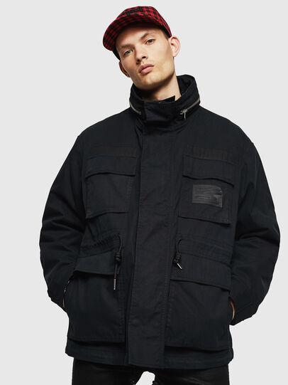 Diesel - J-TOUCHIN, Black - Jackets - Image 1