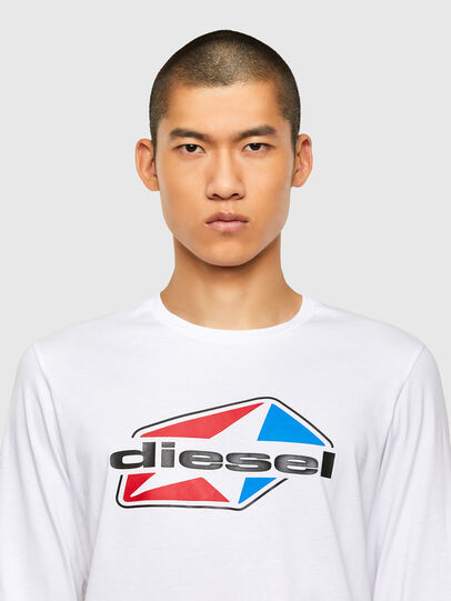 Diesel - T-DIEGOS-LS-K41, White - T-Shirts - Image 3