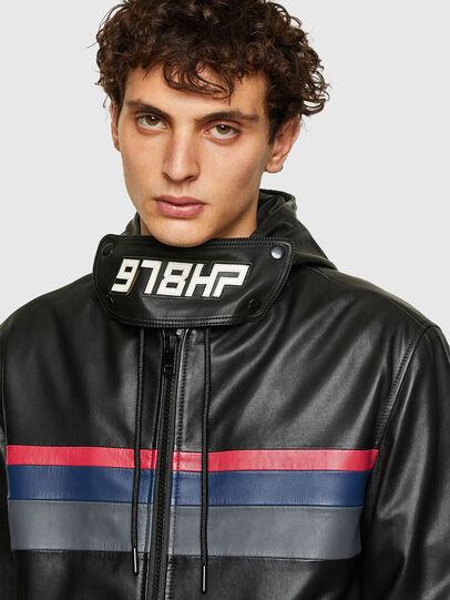 Diesel - L-CIRCLE, Black - Leather jackets - Image 3