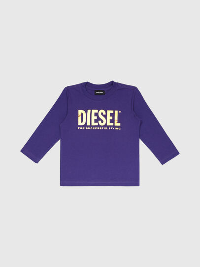 Diesel - TJUSTLOGOB-FL ML-R, Violet - T-shirts and Tops - Image 1