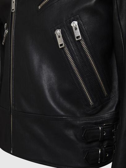 Diesel - L-GARRETT, Black - Leather jackets - Image 4
