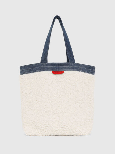 Diesel - F-THISBAG SHOPPER NS, White/Blue - Shopping and Shoulder Bags - Image 2