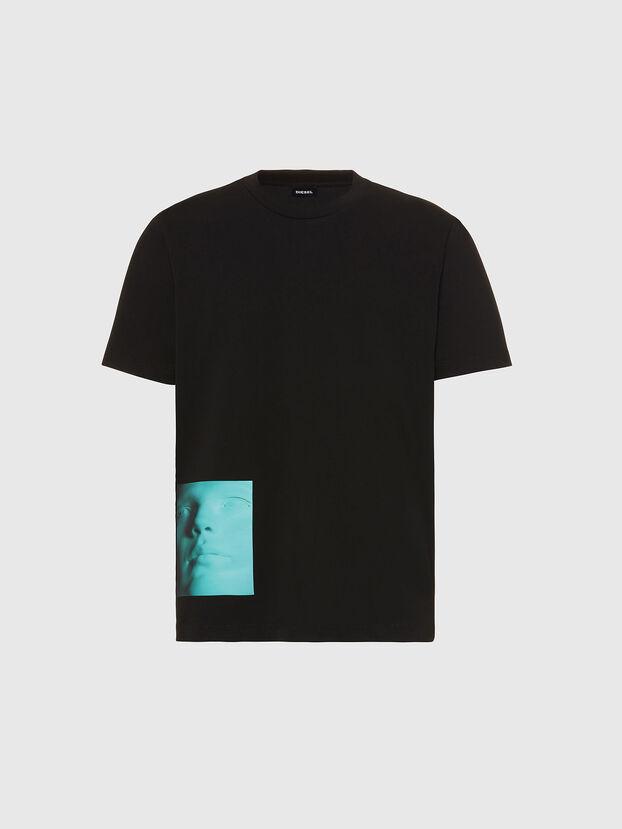 T-JUST-SLITS-X81, Black - T-Shirts