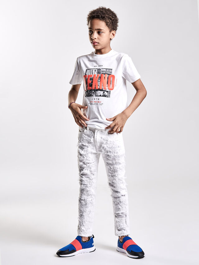 Diesel - TJUSTWA, White - T-shirts and Tops - Image 4