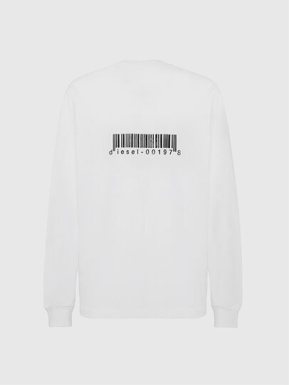 Diesel - T-JUST-LS-X90, White - T-Shirts - Image 2