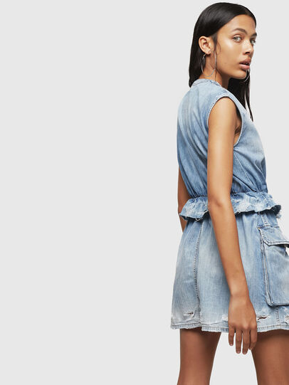 Diesel - DE-AVA, Light Blue - Dresses - Image 5