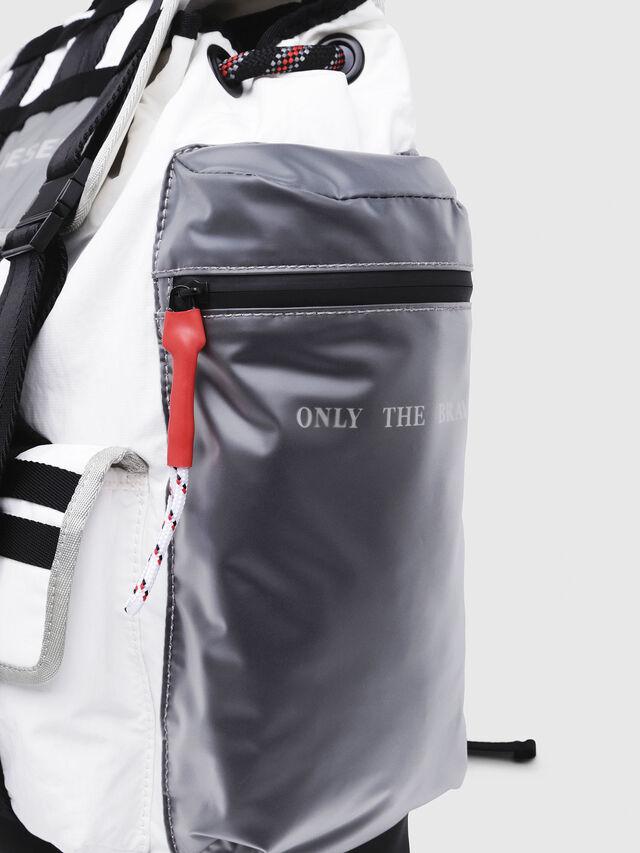 Diesel - M-CAGE BACK, White/Black - Backpacks - Image 4