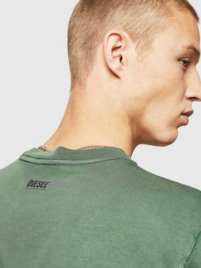Diesel - T-THURE, Green - T-Shirts - Image 3