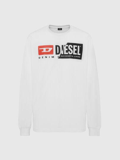 Diesel - T-DIEGO-LS-CUTY, White - T-Shirts - Image 1