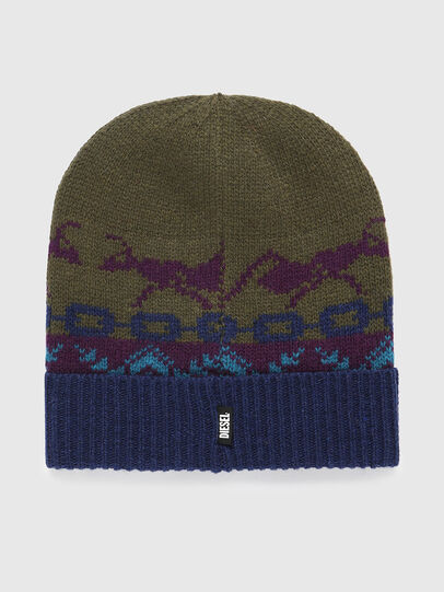 Diesel - K-FONTANA, Green/Blue - Knit caps - Image 2
