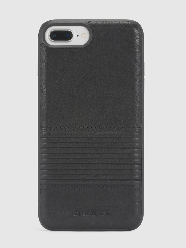 Diesel BLACK LINED LEATHER IPHONE 8 PLUS/7 PLUS/6s PLUS/6 PLUS CASE, Black - Cases - Image 2