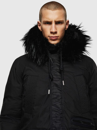 Diesel - W-BULLISK, Black - Winter Jackets - Image 4