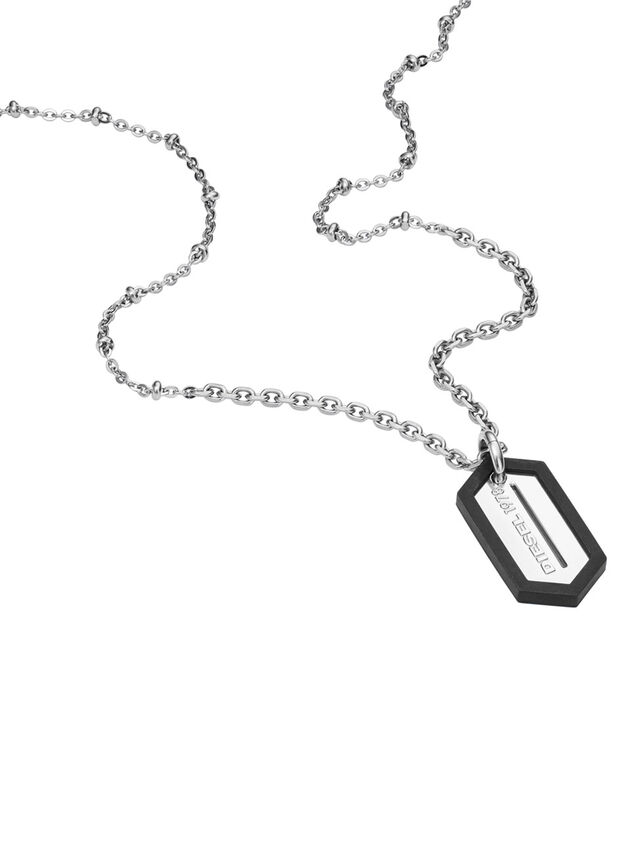 Diesel NECKLACE DX0995, Silver - Necklaces - Image 2