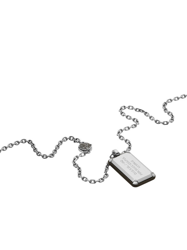 Diesel - NECKLACE DX1019, Silver - Necklaces - Image 2