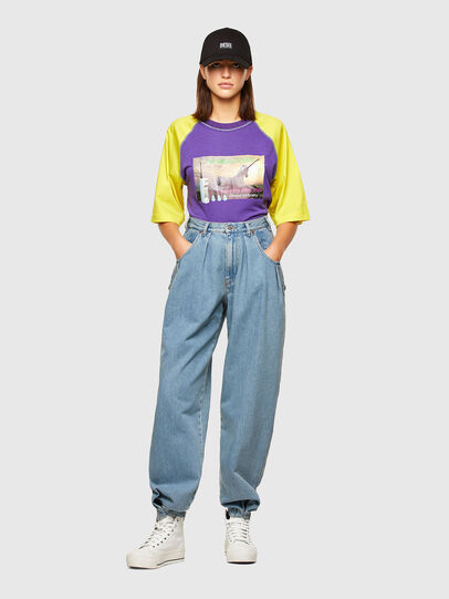 Diesel - T-SPO, Violet/Yellow - T-Shirts - Image 4