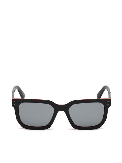 Diesel - DL0253, Black/Red - Sunglasses - Image 1