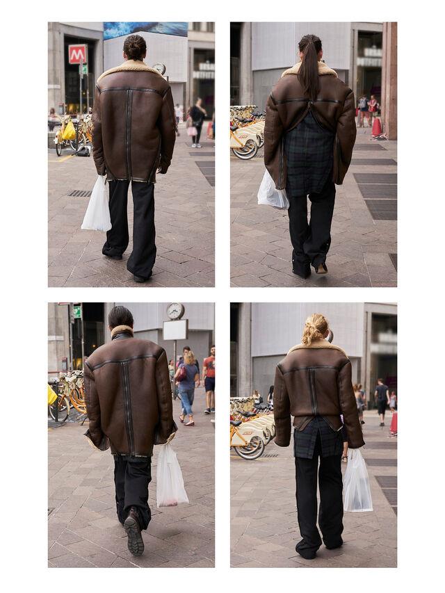 Diesel - GMLT01, Brown - Leather jackets - Image 4