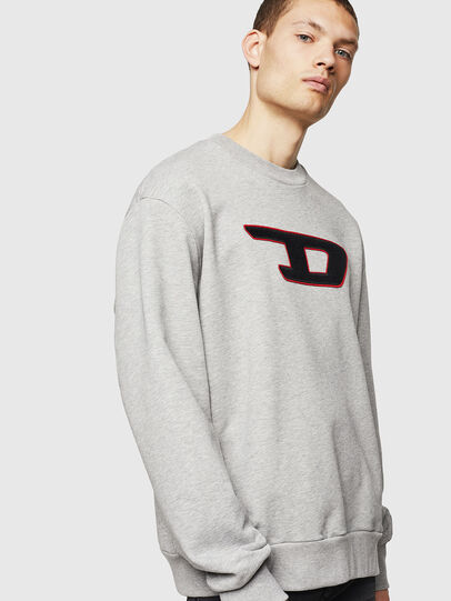 Diesel - S-CREW-DIVISION-D, Light Grey - Sweaters - Image 1