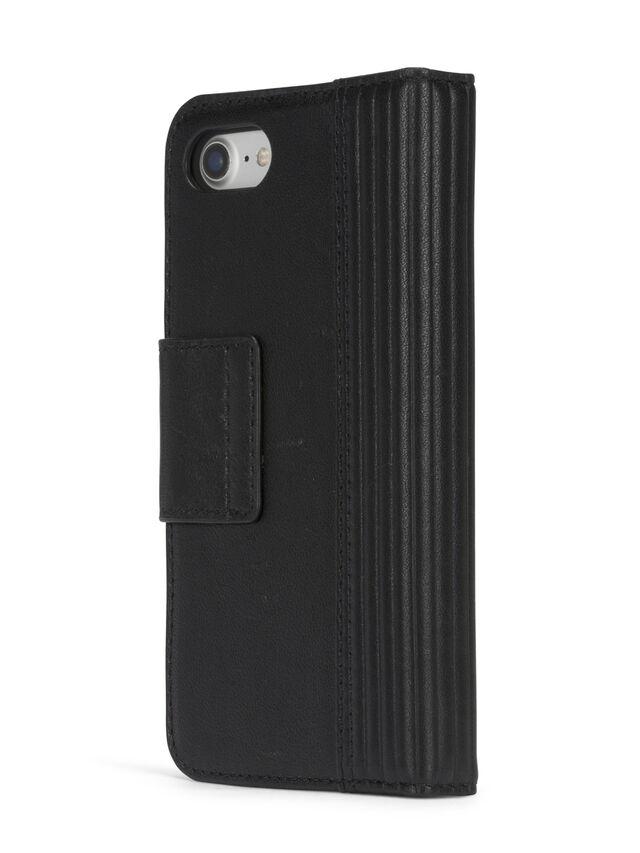 Diesel - BLACK LINED LEATHER IPHONE 8 PLUS/7 PLUS FOLIO, Black - Flip covers - Image 6