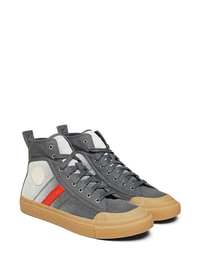 Diesel - GR02 SH32, Grey/White - Sneakers - Image 1