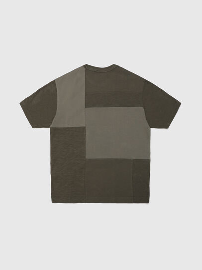 Diesel - TATCHWORK OVER, Military Green - T-shirts and Tops - Image 2
