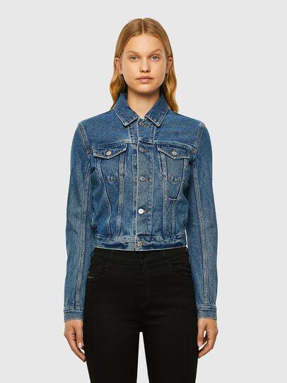 Diesel - DE-NINO, Medium blue - Denim Jackets - Image 1
