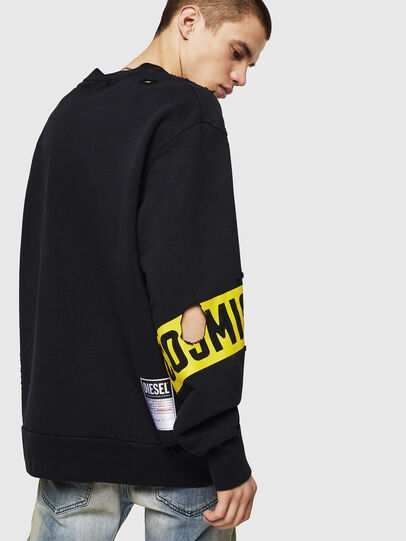 Diesel - S-BAY-HOLES, Black/Yellow - Sweaters - Image 2