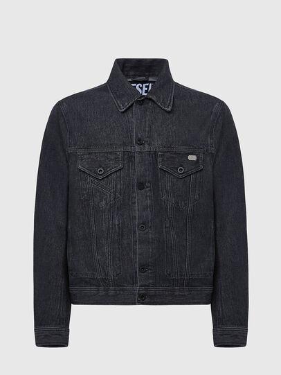 Diesel - D-BRAY, Black - Denim Jackets - Image 1