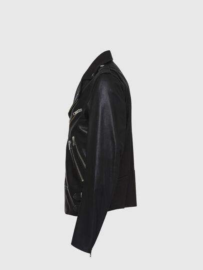Diesel - L-GARRETT, Black - Leather jackets - Image 3