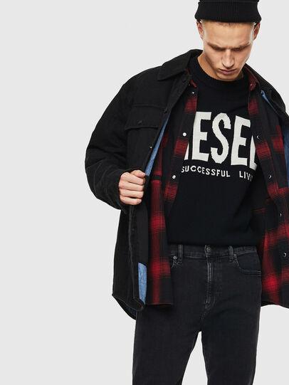 Diesel - D-WELLES, Black - Denim Shirts - Image 3
