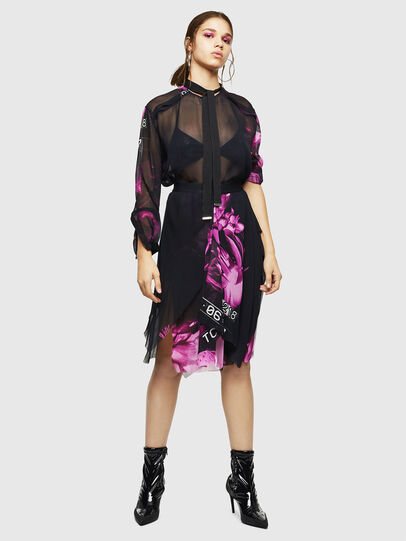 Diesel - O-CERYS, Black/Pink - Skirts - Image 6