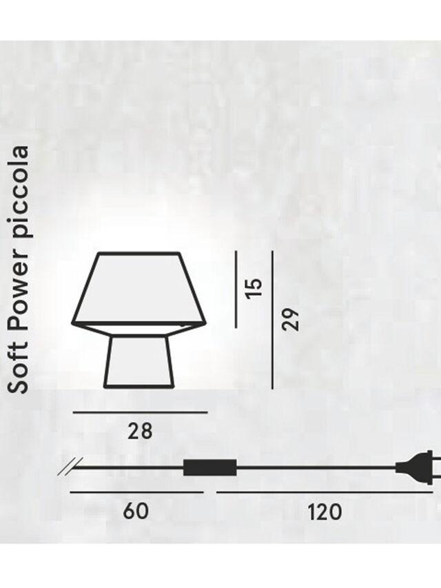 Diesel - SOFT POWER PICCOLA, Black - Table Lighting - Image 2