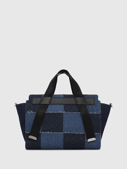 Diesel - F-CAORLY SATCHEL M, Blue - Satchels and Handbags - Image 2