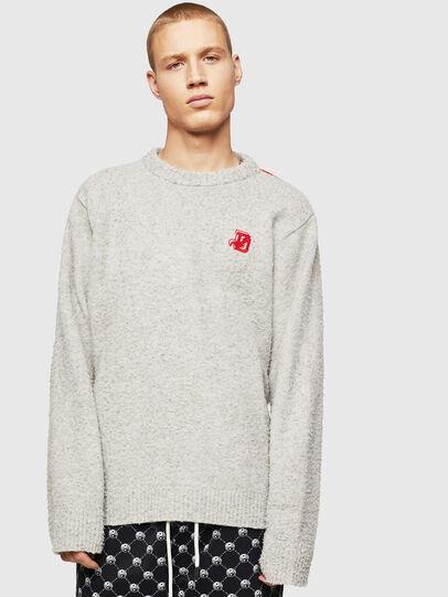 Diesel - K-CASY, Light Grey - Knitwear - Image 1